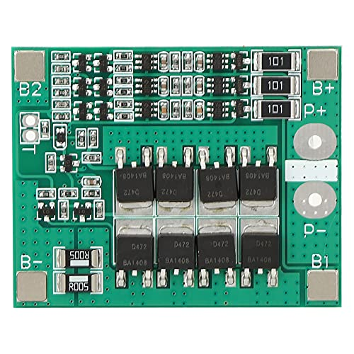 BMS Board, Over-discharge Protection 3S 12V 40A Lithium Battery Protection Board with Thickened Aluminum Fin for Battery Charging for Lithium Battery