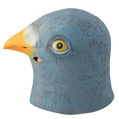 Jacksking Tiermaske, Erwachsene Latex Taube Vogel Kopf Maske Kostüm Halloween Kostüm Cosplay Party
