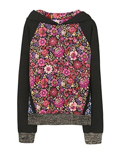 DESIGUAL Desigual Mädchen Sweat_Grebe Sweatshirt, Schwarz (Negro 2000), 104 (Herstellergröße: 3/4)