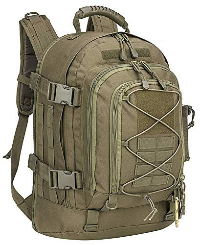 Military Expandable Travel Backpack Tactical Waterproof Work Backpack for Men odgreen
