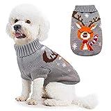 Idepet Disfraz de Gato Perro, Disfraz Gatuno Perro para Halloween Navidad Otoño Invierno Gris