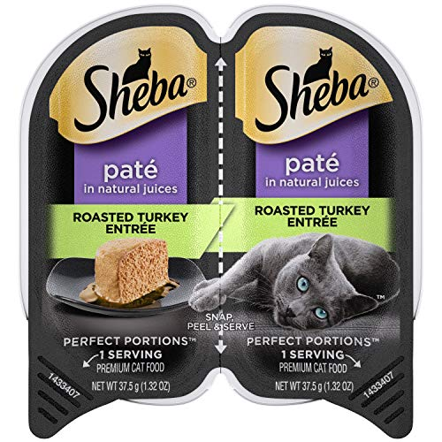 SHEBA PERFECT PORTIONS Soft Wet Cat Food Paté in Natural Juices...