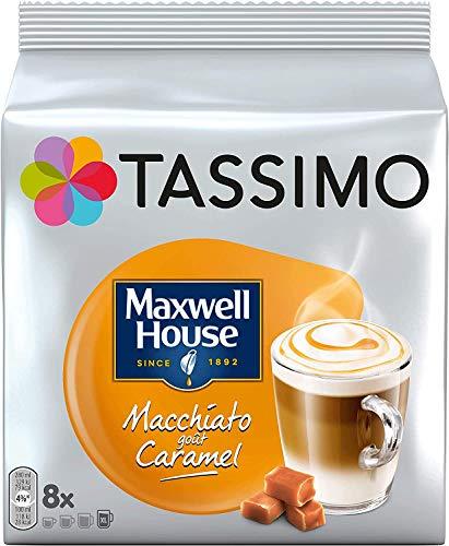TASSIMO Maxwell House - Paquete de 15 cápsulas de vainas de café y caramelo de Macchiato, 120 bebidas