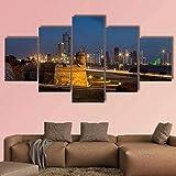 NC89 5 imágenes consecutivas Imágenes Arte Paredes Lienzo Cartagena Colonial Decoración para el hogar