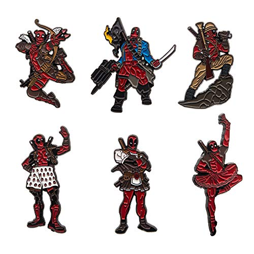 Marvel Deadpool Enamel Six Pin Set (Amazon Exclusive)