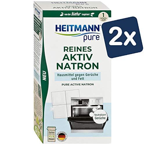 HEITMANN pure Reines Aktiv-Natron: Ökologisches Putzmittel aus Soda und Natrium, Reinigung für Haushalt, Küche und Wäsche, 2x 350g