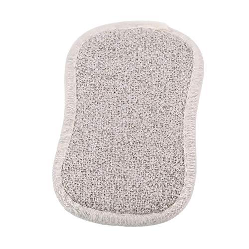YuuHeeER Esponjas estropajos de doble cara para limpiar paños de cocina, color beige
