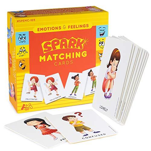 Feelings and Emotions Flash Cards - Juego de memoria, juegos de habilidades sociales, tarjetas de emociones, tarjetas de sentimientos, juegos de empatía en casa, juegos...