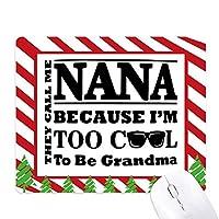 漫画の本の最高の願いをおばあちゃんの手紙 ゴムクリスマスキャンディマウスパッド