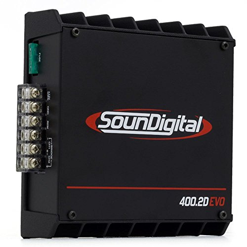 Review SounDigital 400.2D EVO 400W RMS 2-Channel Class-D Full-Range Amplifier - 4 Ohm