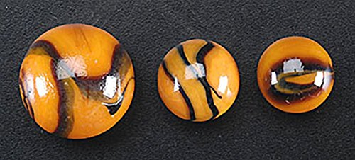 FS USA Glass Mega Marbles Bengal Tiger Game Net Set (25 Piece)