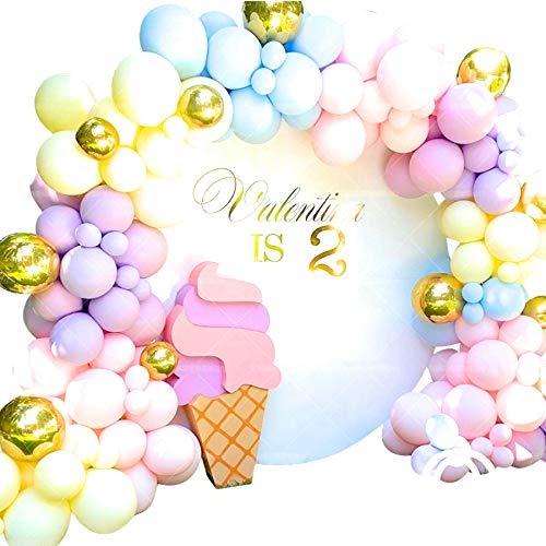 kanon バルーンアーチ マカロンカラー 120個セット 結婚祝い 誕生日 パーティー 風船