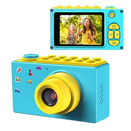 ShinePick Appareil Photo Numérique Enfants,Mini Caméra avec Carte TF / Zoom numérique 4X / 8MP / Écran LCD TFT de 2 Pouce Caméra pour Enfants (Bleu)