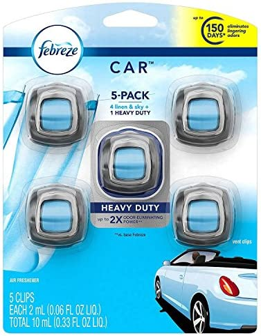 Febreze Car Air Freshener, Set of 5 Clips, Linen...