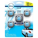 Febreze Car Air Freshener, Set of 5 Clips, Linen & Skyup to 150 Days (Packaging May Vary)