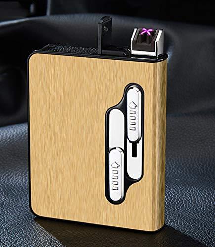 Caso Del Cigarrillo Automática Multifunción Titular De La Caja De Cigarrillos USB...