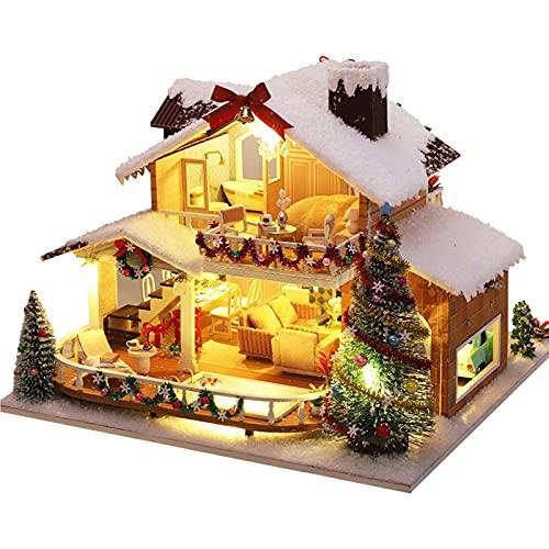 ORTUH Kit En Miniatura De Casa De Muñecas De Bricolaje con Muebles, Casa En...