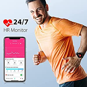 Blackview Smart Watch X2 (44mm, Bluetooth), Watches for Men Women Fitness Tracker Heart Rate Monitor IP68 Waterproof, Smartwatch Compatible with iPhone Samsung Android Phones
