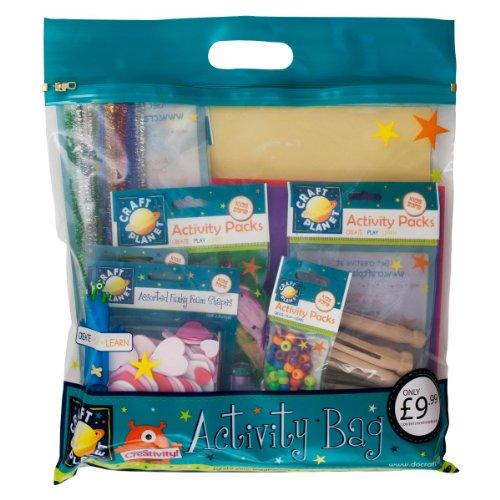 Craft Planet - Confezione di accessori per arti creative per bambina, Modelli assortiti