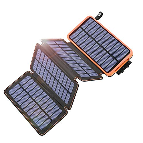 Solar Charger 25000mAh, Tranmix Portable Solar Phone Charger with 4 Solar Panels, High Capacity Solar Power Bank External Battery Pack for Smart Phones, Tablets and Hiking, Camping