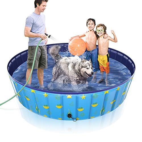 Gimars Thicker PVC Sturdy Not Collapsing Quickly Drain 63'' x 12'' Dog...