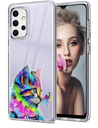 16Jessie Funda de silicona transparente compatible con Samsung Galaxy A32 5G, diseño de mármol, antigolpes, antiarañazos, transparente