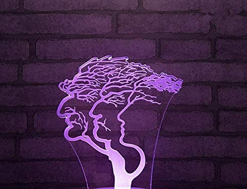 LSDAMN 3D Night Light for Children Character Avatar Colorful Color Change Lamp USB Rechargeable Lamp Crack Base Table Lamp Night Light Decoration Gift Light