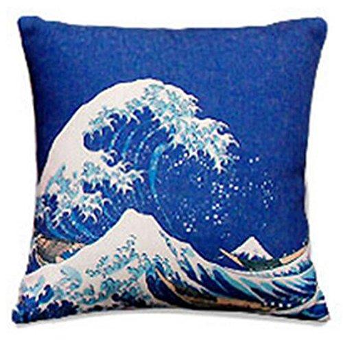 Black Temptation Style Japonais Coussin d'oreiller Confortable pour la Maison/Sushi Restaurant 45x45cm -A13
