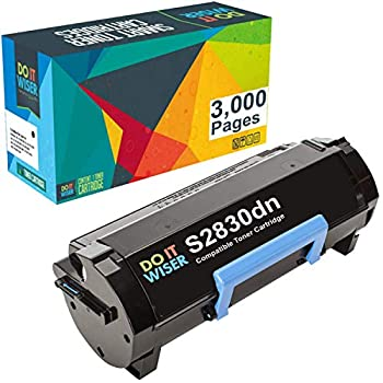 Do it Wiser Compatible Toner Cartridge Replacement for Dell S2830dn S2830 593-BBYO FR3HY TC2RH  Black 3,000 Pages