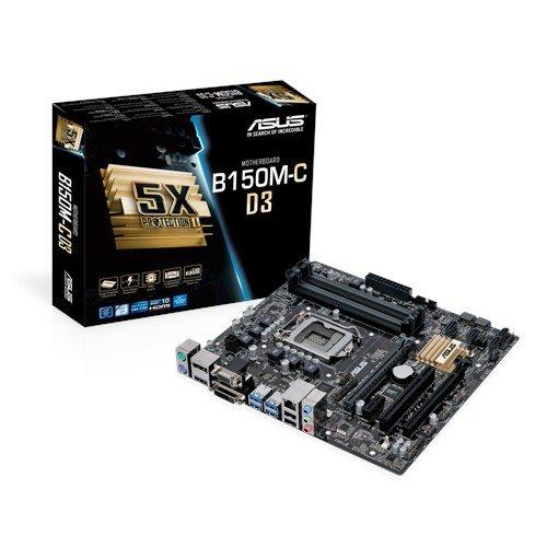 ASUS B150M-C D3 - Placa Base Micro-ATX (64 GB, DIMM, 4 x DDR3, 2 x USB 3.0, SATA 6 GB/s)