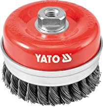 Yato YT-4769 Twisted Steel Wire Cup Brush, 100 mm Diameter