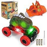 joylink Dinosaurio Coche, Juguetes de Dinosaurios Coche con Luces LED y Sonido Realista Dinosaurio Juguete Coche Regalos de Cumpleaños para Niños Juguetes para Niñas de 3-8 Años (Grande)