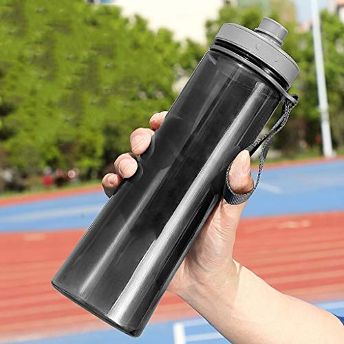 Outdoor Sportflasche aus Sport Cup Plastic Cup Herren und Frauen große Kapazitäts-Raum Cup im Freien Großen Kessel bewegliche handlichen Studenten Teetasse 750ml Schwarz Versiegelt Auslaufsicher Wasse