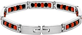 Stainless Steel Link Wristband Evil Protection Beaded Elegua Bracelet 9