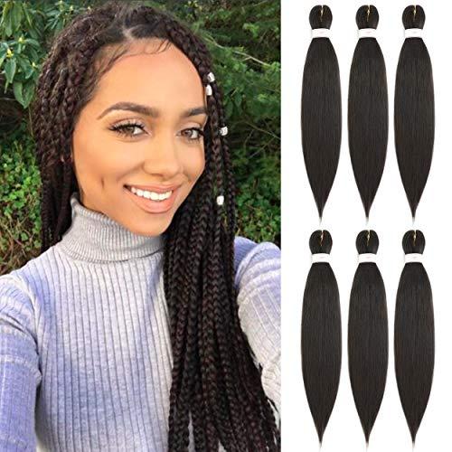 BeautyGrace 8 Packs 22 inch Pre-stretched Braiding Hair Professional Perm Yaki Synthetic Hair Braids(8 Pack, 99j).