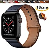 Chok Idea Innovative Schnalle Echtes Leder Uhrenarmbnder Compatible with Apple Watch Armband 44mm...