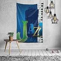 Abstract Cracked Jazz Music Background with Piano Keys Music Themed Print タペストリー おしゃれ 60X40インチ(152x102cm)タペストリー壁掛け手工芸品寝室/リビングルーム/寮/カーテンのための芸術装飾家の装飾
