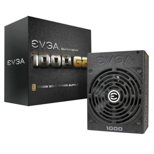 EVGA SuperNOVA 1000 G2 80+ GOLD, 1000W Voll Modular NVIDIA SLI und Crossfire Ready 10 Jahre Garantie Netzteil 120-G2-1000-X2