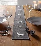 Tischband Winter grau 14x160cm - 2