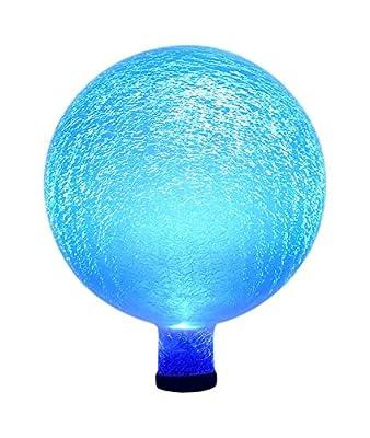 Achla Designs Celestial Orb Solar 10-Inch Gazing Globe Ball, Blue Lapis