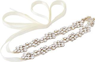 HONGMEI حزام زفاف رقيق حجر الراين حزام الزفاف وشاح إشبينة العروس اكسسوارات اللباس النساء