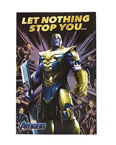 Avengers Geburtstagskarte – Ideales Geschenk für Ihn – Avengers Endgame – Avengers mit Thanos, Iron Man, Thor, Hulk, Black Widow, Captain America – Marvel
