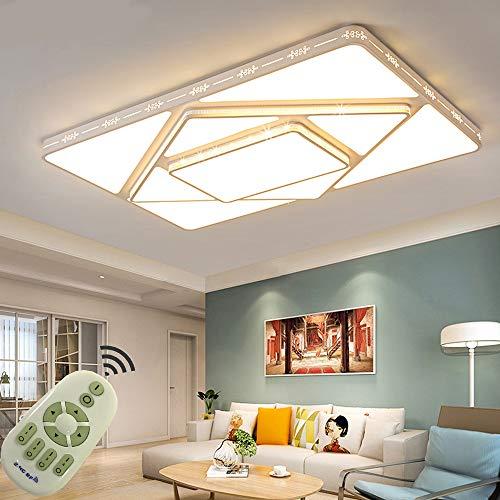 78W Lámpara de techo LED Regulable Plafon Techo Led Cuadrado Iluminación interior para Dormitorio Comedor Cocina Balcón Marco de Concha Blanco [Clase de eficiencia energética A++]