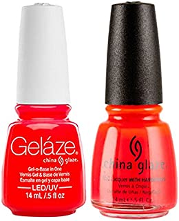 China Glaze Gelaze Tips and Toes Nail Polish, Pool Party, 2 Count