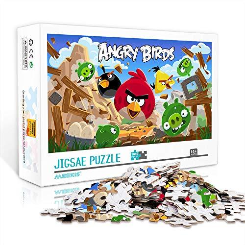 DUANGONGZI Puzzles imposibles 1000 Piezas Angry Birds Jigsaw Puzzles Juego Rompecabezas desafiantes y educativos Juegos Juguetes 75x50cm