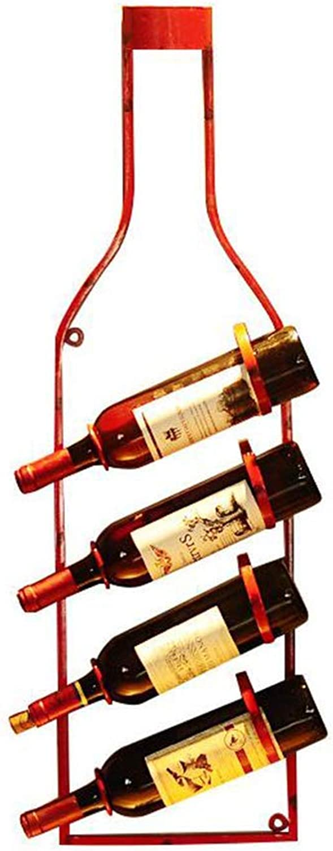 mejor vendido ZXL Estantes para para para Vino Portabotellas Retro Viento Industrial Decoración de Parojo Loft Forjado IronWine Botella Adorno 24.5  11  86 cm Estante de Almacenamiento  mejor oferta
