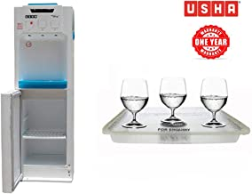 Usha Aquaguine Cooling Cabinet Water Dispenser for 20 litre Bottle with refrigerator Hot and Cold Automatic With Free Crystal Tray