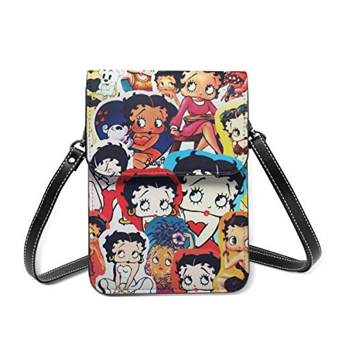 XCNGG Monedero pequeño para teléfono celular Be-Tty Bo-Op Leather Cell Phone Purse Crossbody Bags Small Shoulder Bag Travel Wallet Handbag With Adjustable Strap