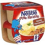 Nestlé Bébé P'tite Recette Hachis Parmentier Plat Complet dès 8 Mois 2 x 200g