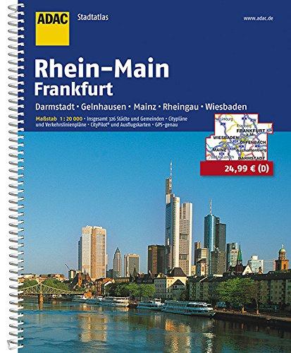 ADAC Stadtatlas Rhein-Main/Frankfurt 1:20 000: mit Darmstadt, Gelnhausen, Mainz, Rheingau, Wiesbaden (ADAC StadtAtlanten 1:20.000)